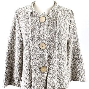 HABITAT Small Brown Tan Knit Chunky Large Button